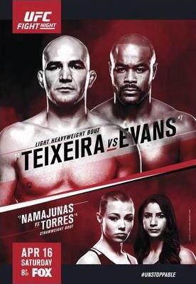 Результаты и бонусы UFC on Fox: Evans vs. Teixeira