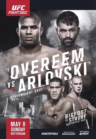 Результаты и бонусы UFC Fight Night: Overeem vs. Arlovski