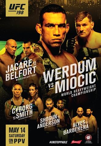 Результаты и бонусы UFC 198: Werdum vs. Miocic