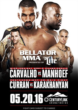 Результаты Bellator 155: Carvalho vs Manhoef