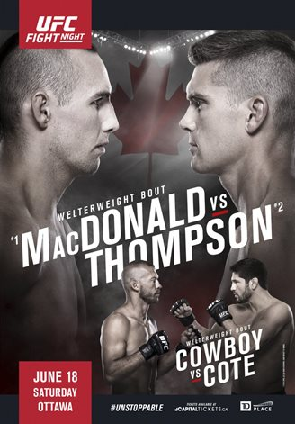 Результаты и бонусы UFC Fight Night: MacDonald vs. Thompson