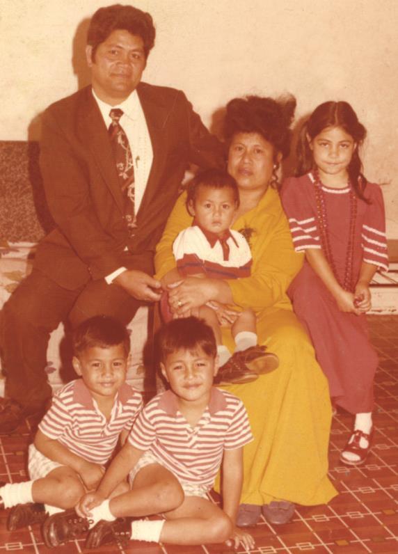 Марк Хант с родителями, братьями и сестрами