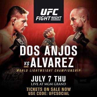 Результаты и бонусы UFC Fight Night: dos Anjos vs. Alvarez