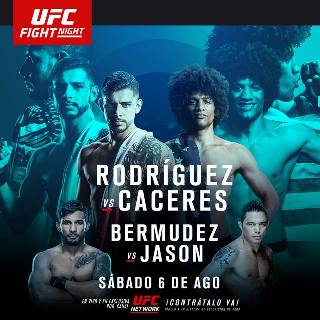Результаты и бонусы UFC Fight Night: Rodríguez vs. Caceres
