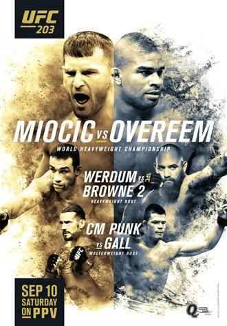 Результаты и бонусы UFC 203: Miocic vs Overeem