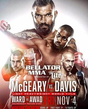 Результаты Bellator 163: McGeary vs. Davis