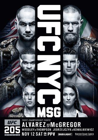 Результаты и бонусы UFC 205: Alvarez vs. McGregor