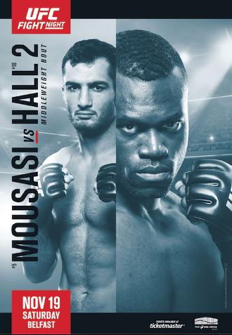 Результаты и бонусы UFC Fight Night: Mousasi vs. Hall 2