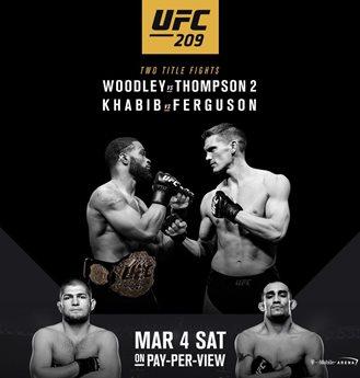 Результаты и бонусы UFC 209: Woodley vs. Thompson 2