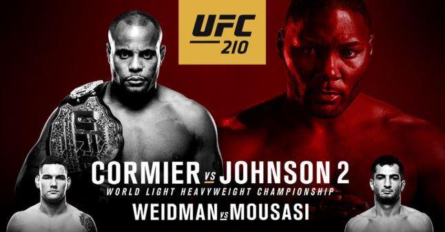Результаты и бонусы UFC 210: Cormier vs. Johnson 2