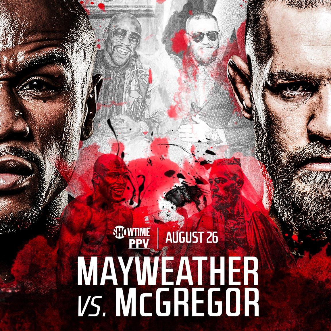 Официальный постер боя Мейвезер - Макгрегор