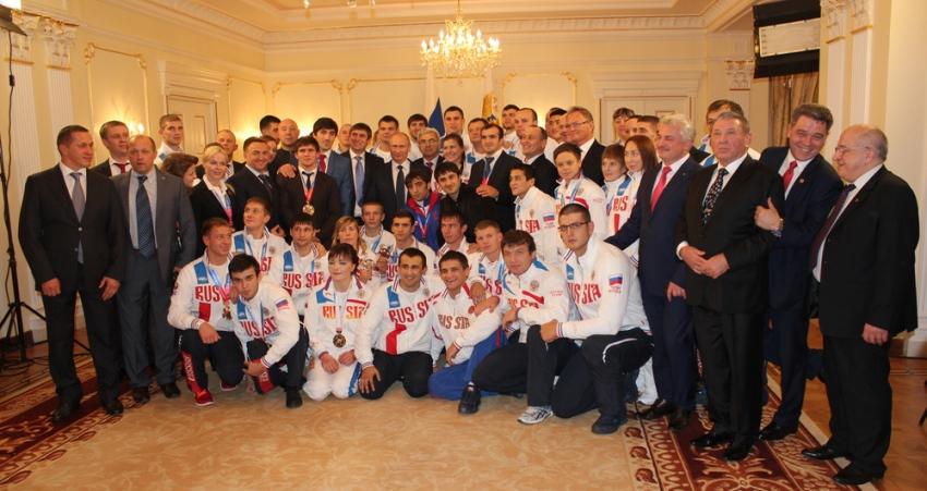 Российские грэпплеры на приеме у Президента