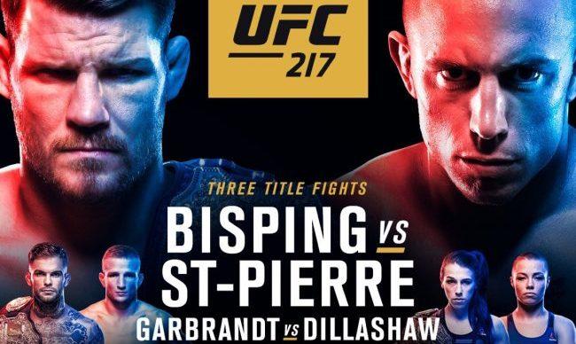 Результаты и бонусы UFC 217: Bisping vs. St-Pierre