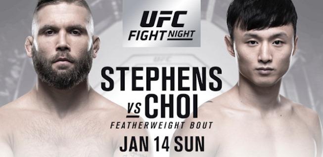 Результаты и бонусы UFC Fight Night: Stephens vs. Choi