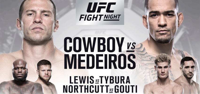 Результаты и бонусы UFC Fight Night: Cowboy vs. Medeiros