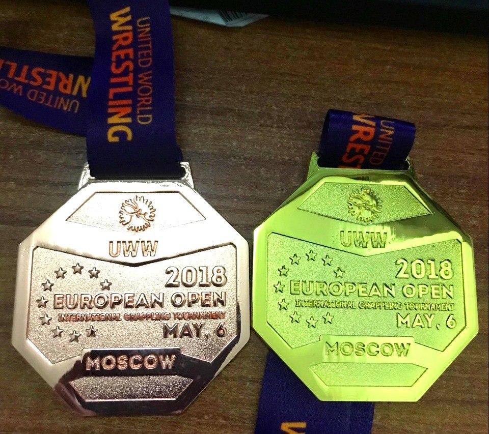 Уникальные медали European Grappling Open