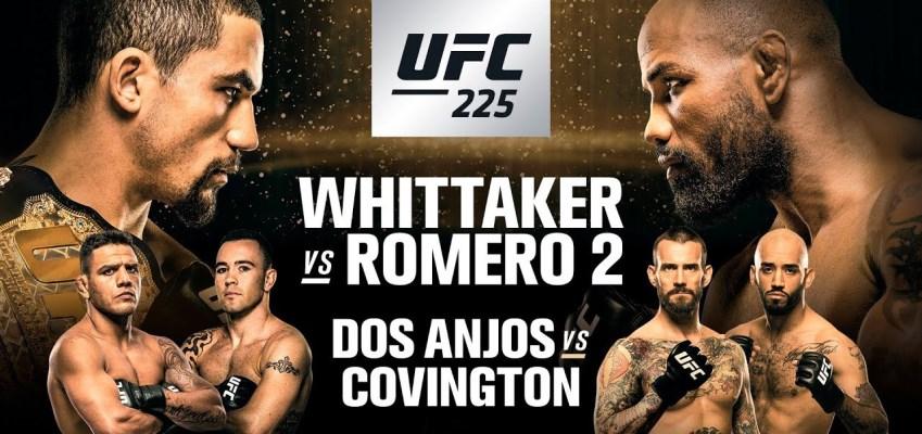 Результаты и бонусы UFC 225: Whittaker vs. Romero 2