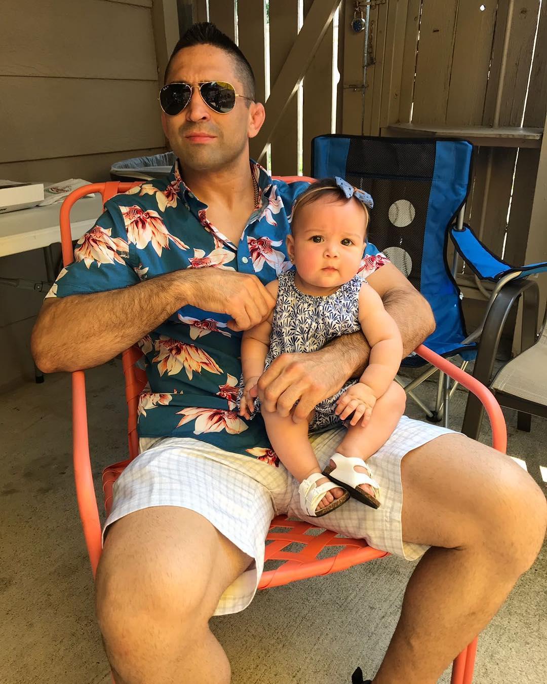 Рикардо Ламас с дочкой