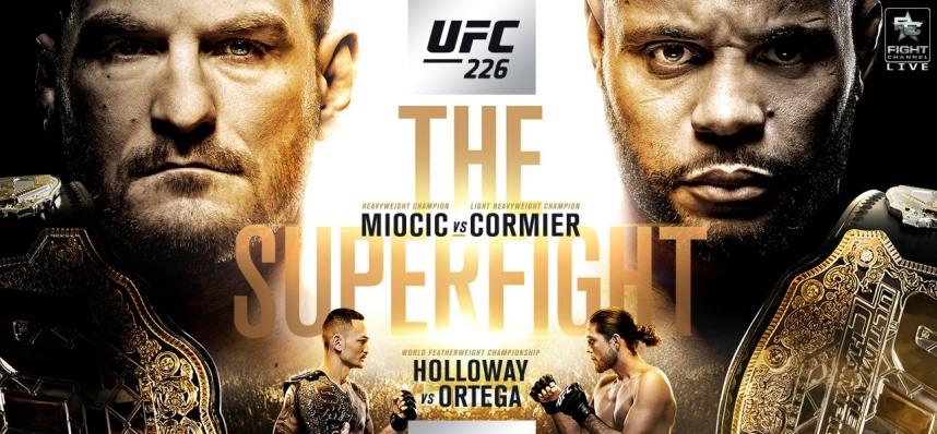 Результаты и бонусы UFC 226: Miocic vs. Cormier