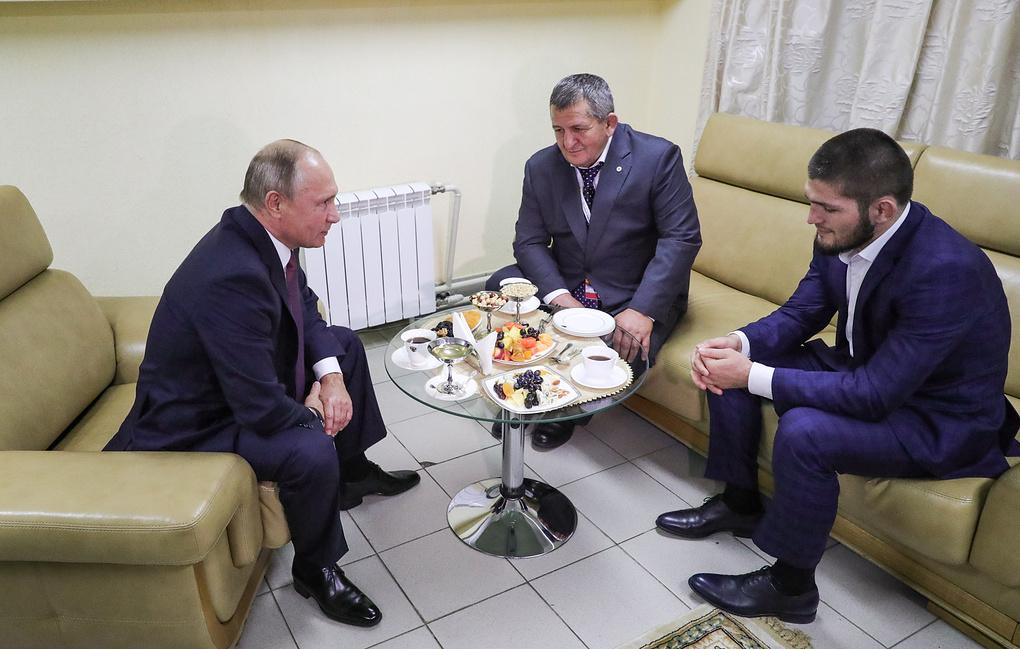 Владимир Путин, Абдулманап Нурмагомедов, Хабиб Нурмагомедов