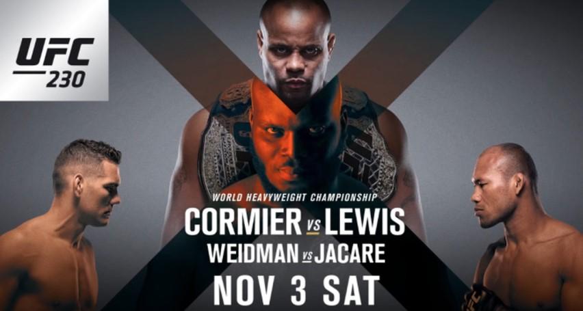 Результаты и бонусы UFC 230: Cormier vs. Lewis